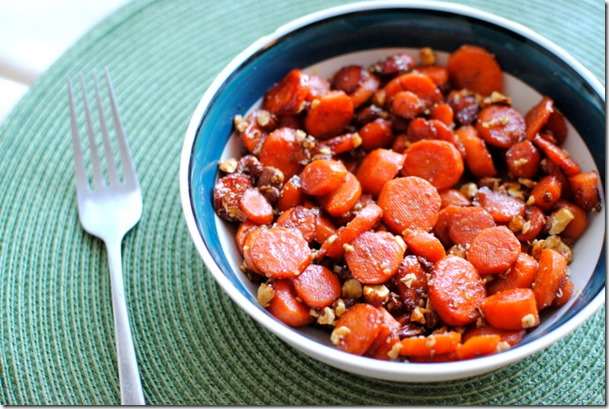 Glazed Carrots with Butter Toffee Almonds