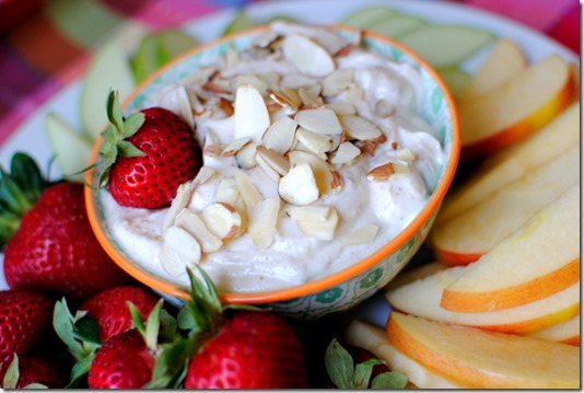 Healthy Cinnamon Almond Butter Fruit Dip