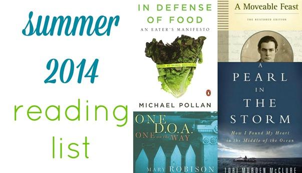 Summer 2014 Reading List