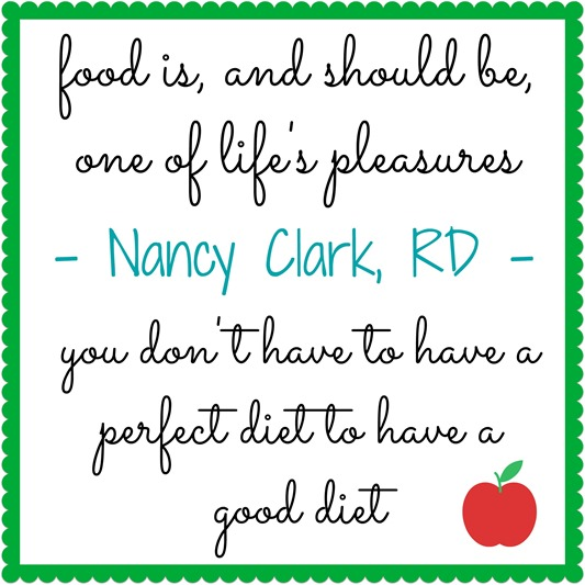 You Don't Have To Have A Perfect Diet To Have A Good Diet