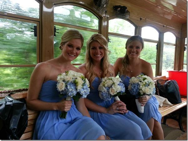 Bridesmaid Trolley Ride