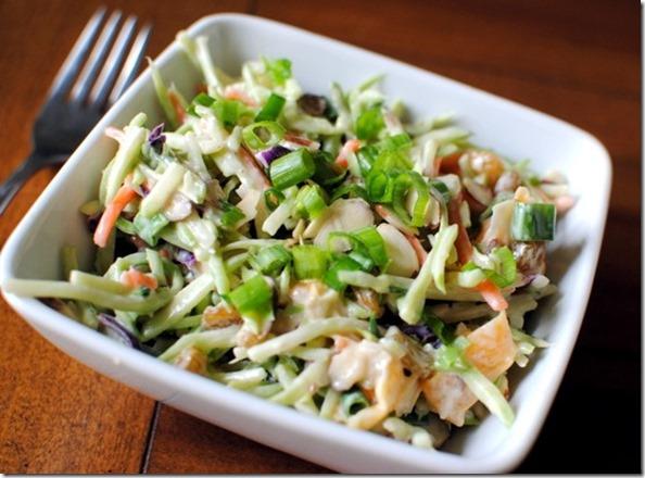 Healthy Asian Crunch Salad with Broccoli Slaw
