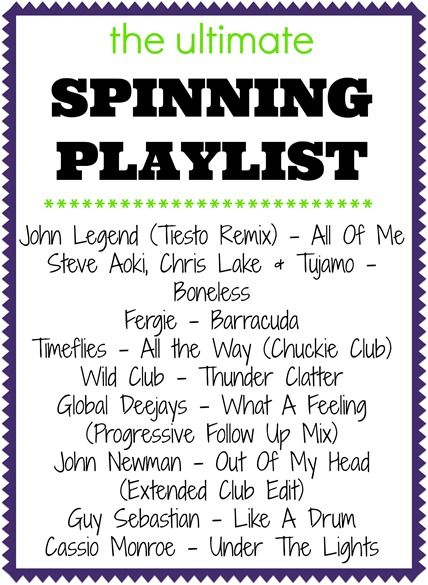 The Ultimate Spinning Playlist