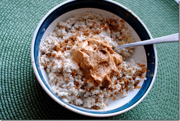 oatmeal with peanut butter