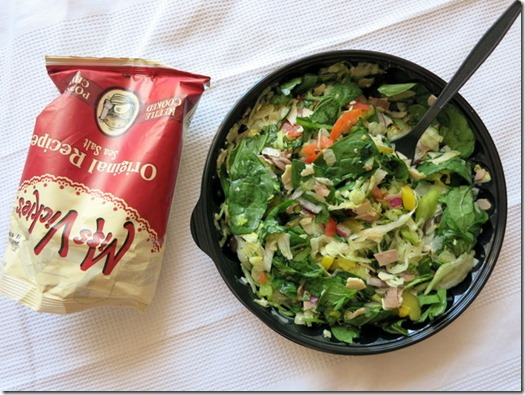 subway chopped salad lunch