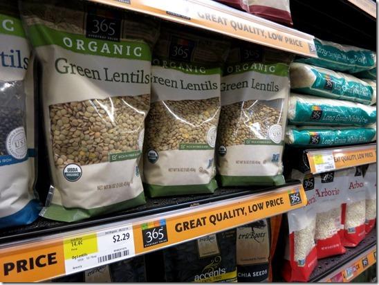 365 brand lentils