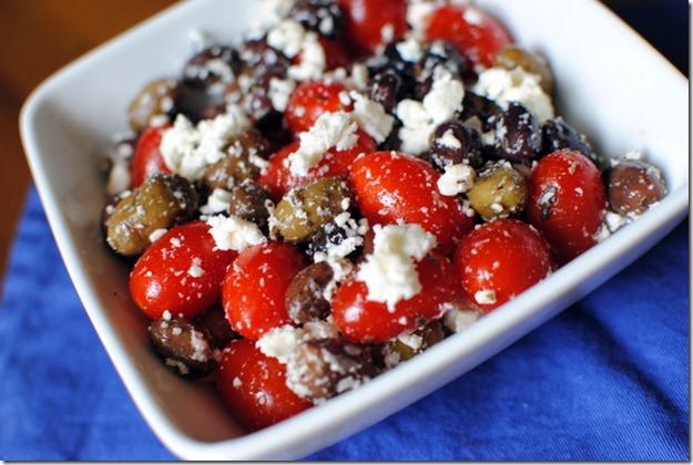 Olive Tomato and Feta Salad