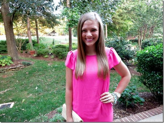 Pink Dress White Plum