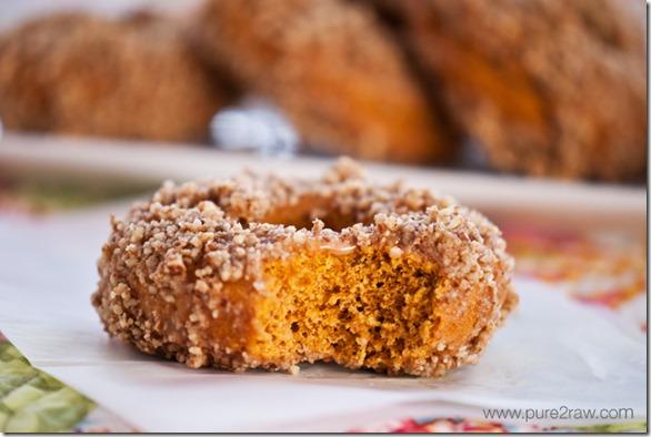 Vegan Pumpkin Doughnut
