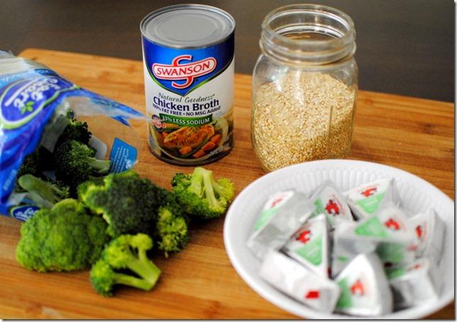 Broccoli Cheese Quinoa Ingredients