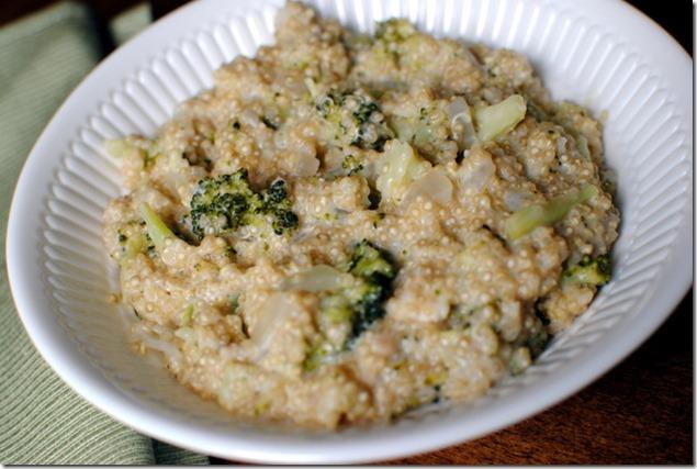Broccoli Cheese Quinoa Recipe
