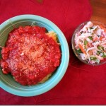 Spaghetti Squash and Ground Turkey Marinara