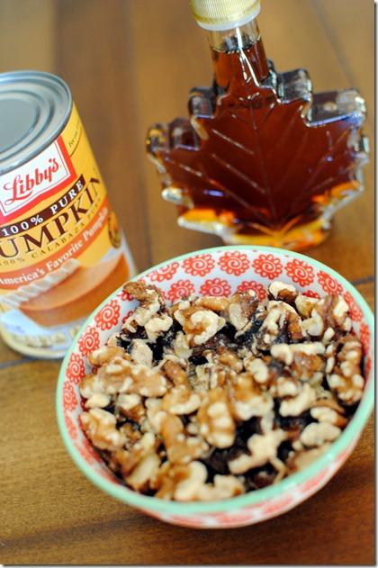 pumpkin walnuts maple