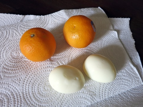 clementines and eggs