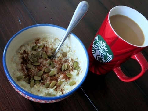 oats and coffee