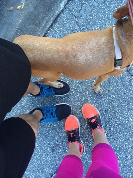 running with ryan and sadie