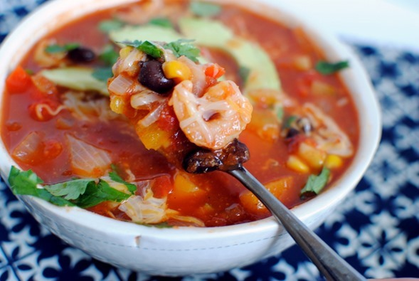 Southwest Shrimp Soup