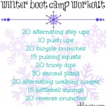 Winter Boot Camp Workout