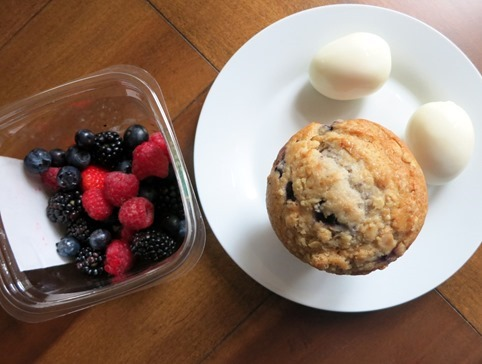 muffin eggs and berries