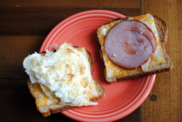 egg white and cheese breakfast sandwich