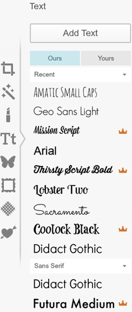 PicMonkey Fonts