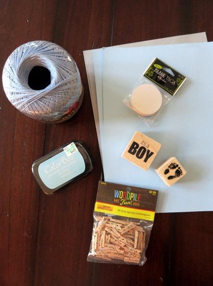 baby shower garland supplies