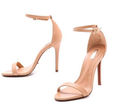 nude sandals schutz