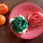 Egg Sandwich with Spinach and Tomato