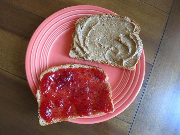 almond butter jelly sandwich