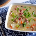 Corned Beef and Cabbage Creamy Potato Leek Soup