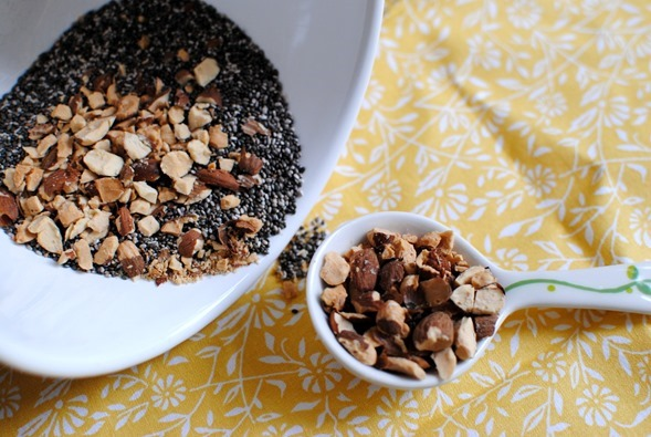 Chia Seeds and Almonds