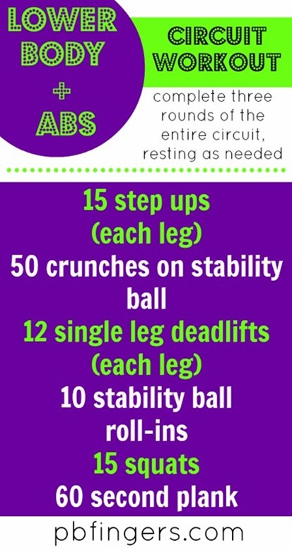 Lower Body and Abs Circuit Workout