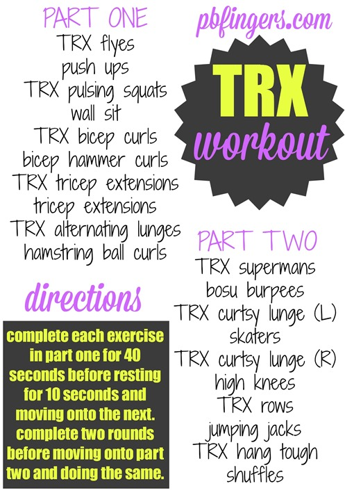 Super Sweaty TRX Workout