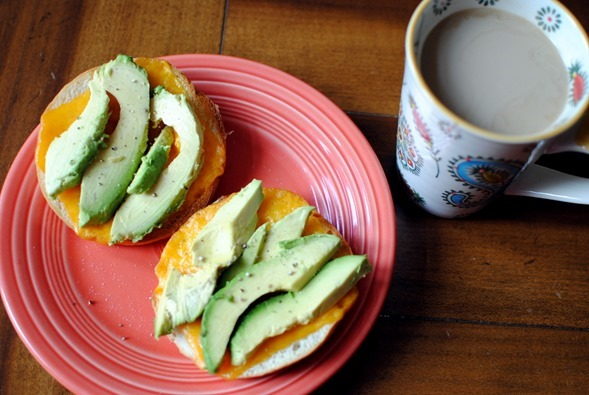cheese toast with avocado