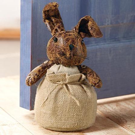 nursery bunny doorstop