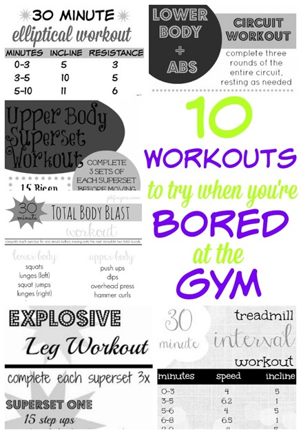 10 Workouts To Try When You're Bored At The Gym