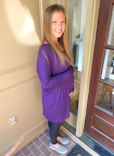27 weeks pregnant baby bump
