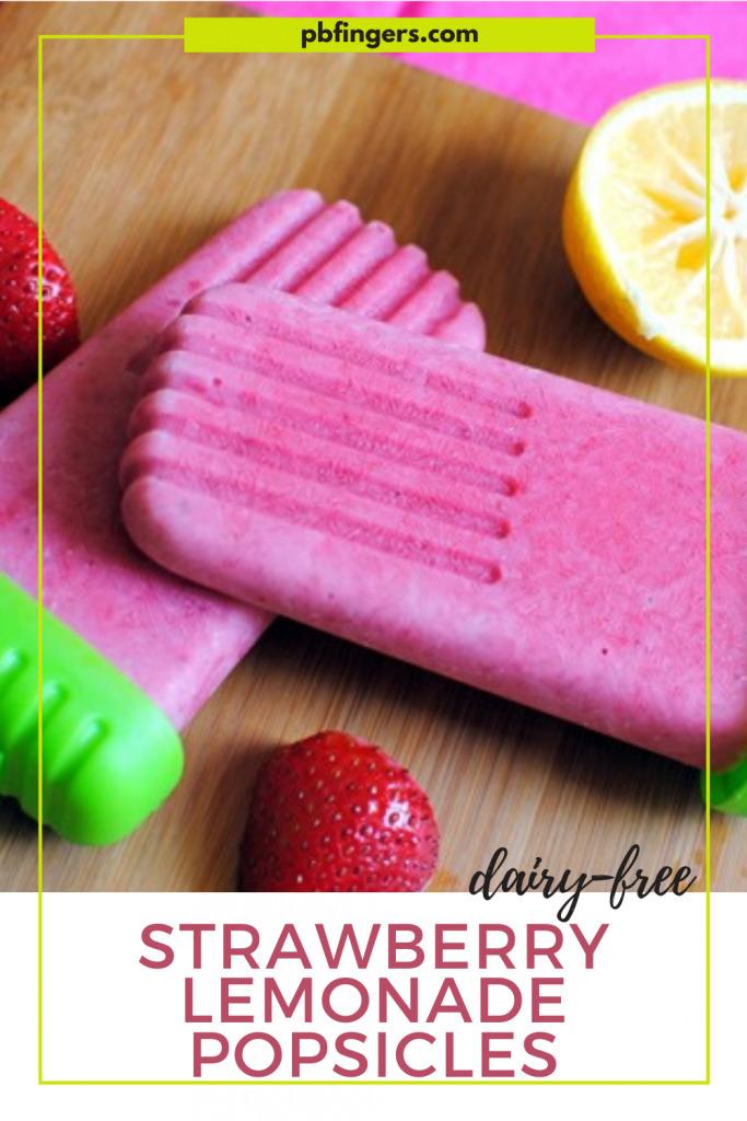 Dairy-Free Strawberry Lemonade Popsicles