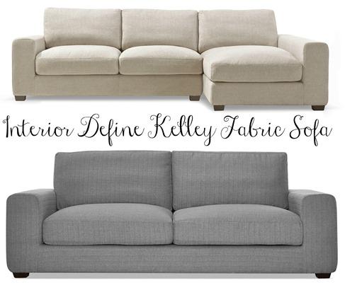 Interior Define Kelly Fabric Sofa