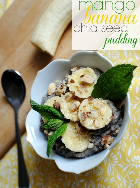 Mango Banana Chia Seed Pudding Recipe