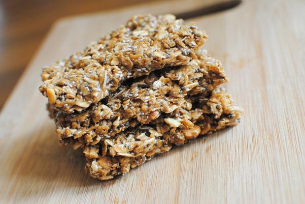 No Bake Peanut Butter Granola Bars Recipe