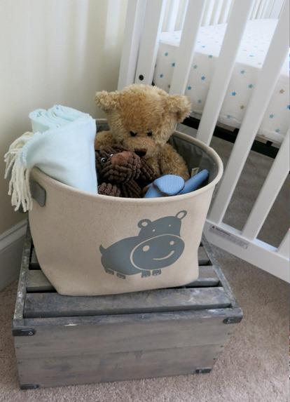 Nursery Elephant Toy Bin