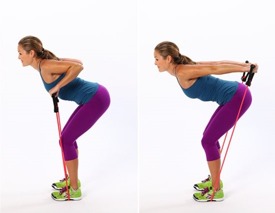 Resistance Band Tricep Exercise