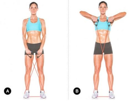 Resistance Band Upright Rows