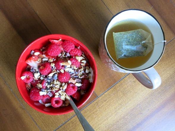 greek yogurt and berries