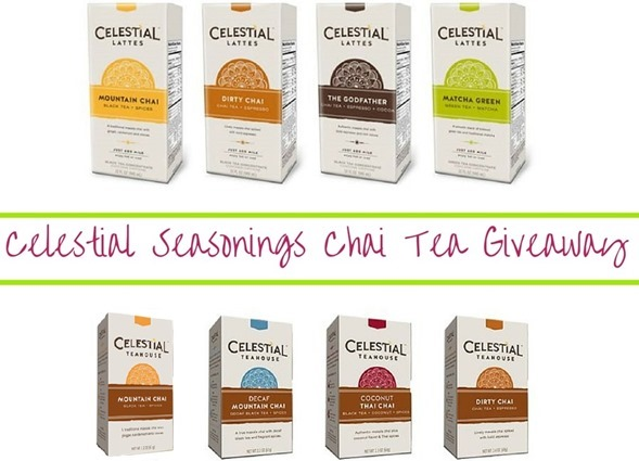 Celestial Seasonings Chai Tea Giveaway