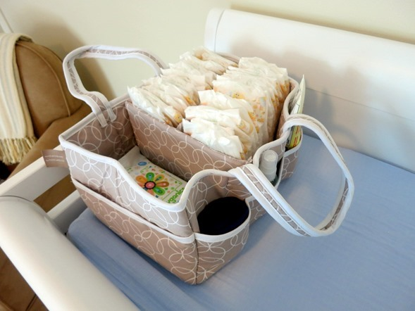 Diaper Caddy Beige