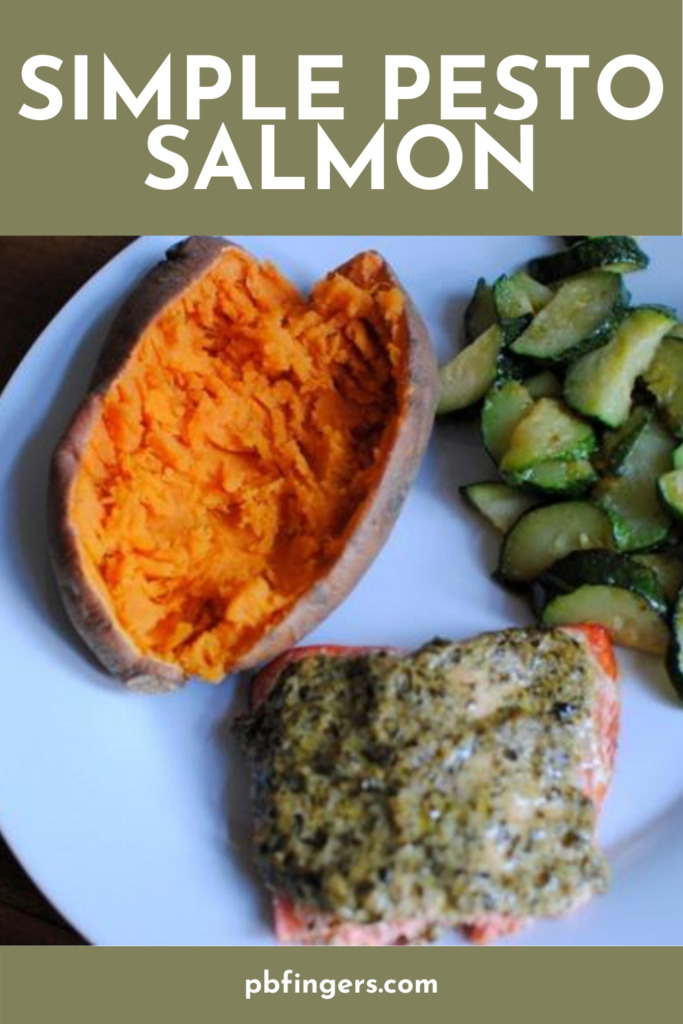 Simple Pesto Salmon