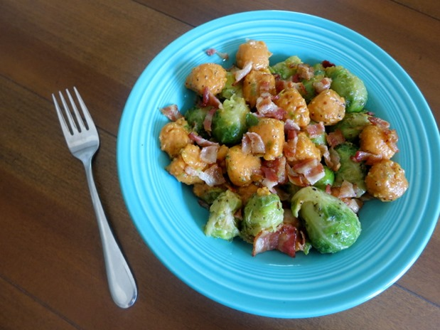 sweet potato gnocchi brussels sprouts