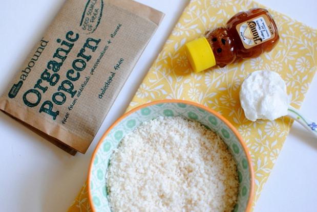 Coconut Popcorn Ingredients
